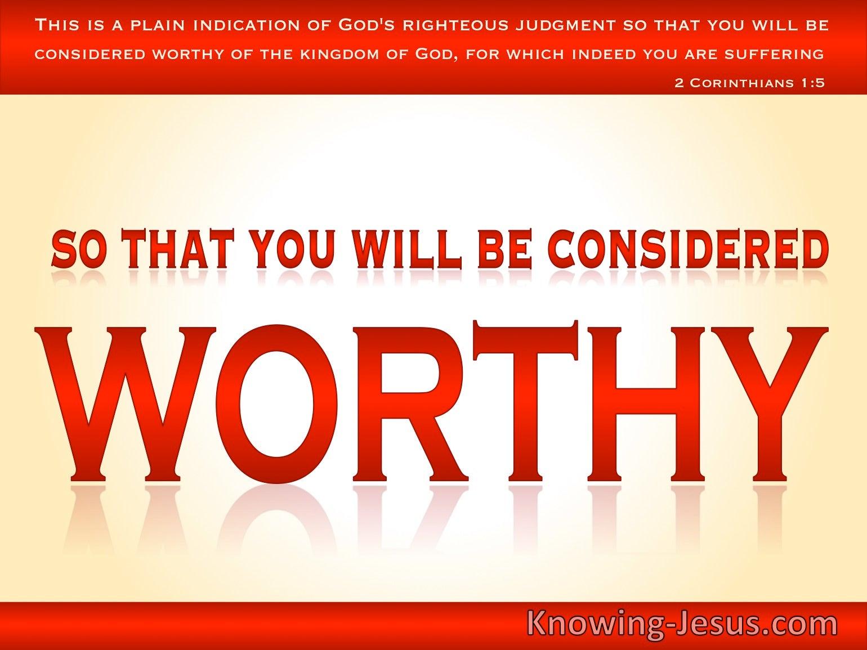2 Thessalonians 1:5