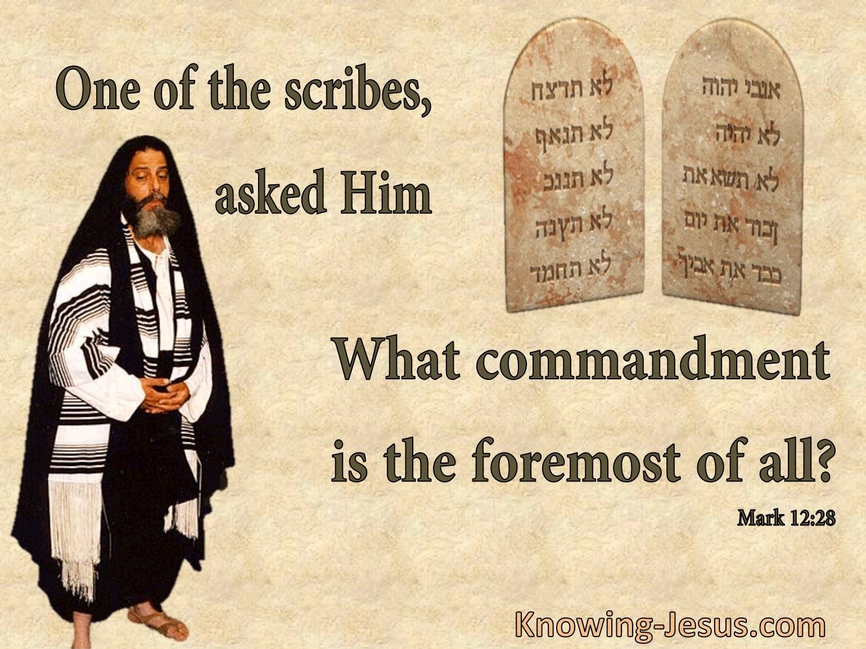 Mark 12:28
