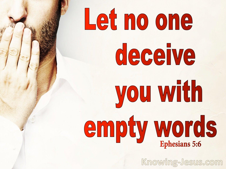 Ephesians 5:6