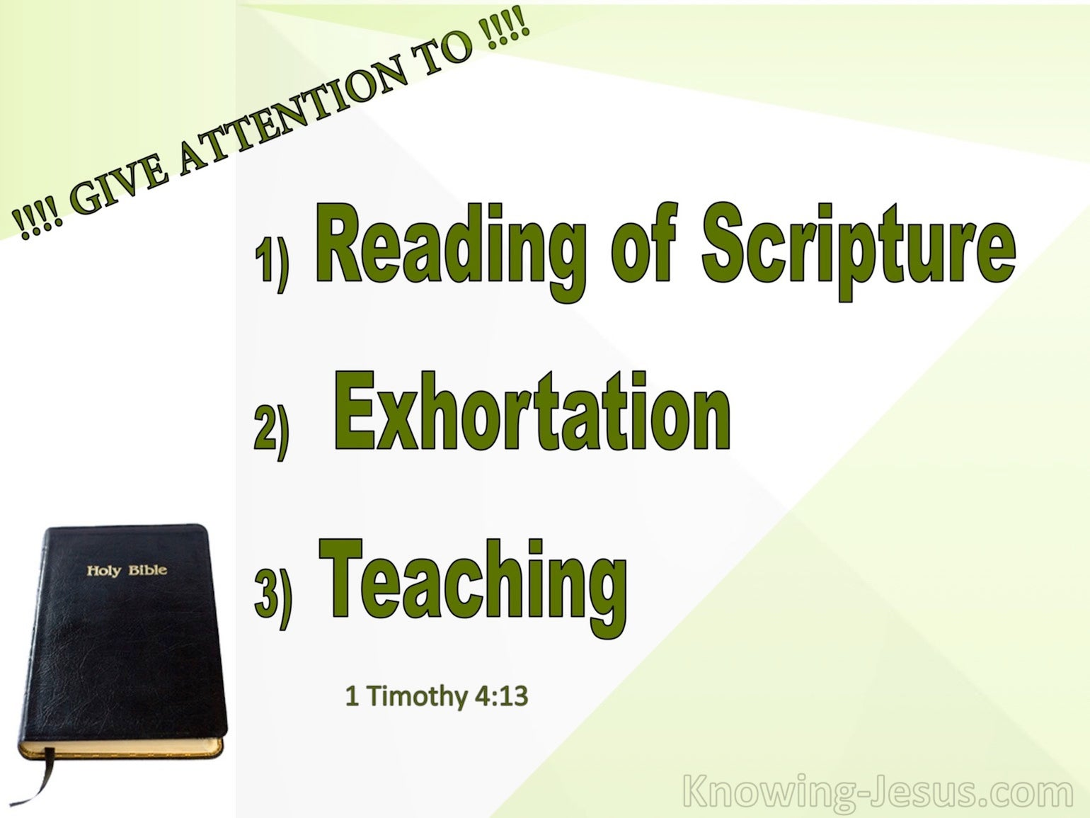 What Does 1 Timothy 4:13 Mean?