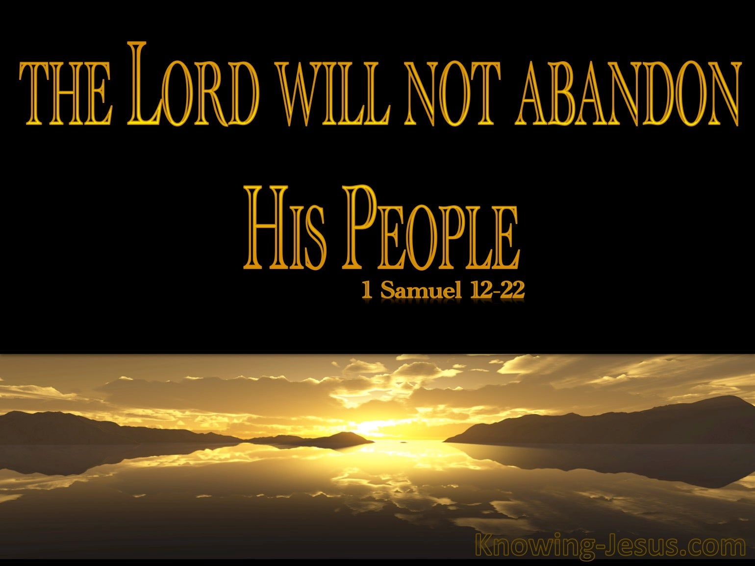 What Does 1 Samuel 12:22 Mean?