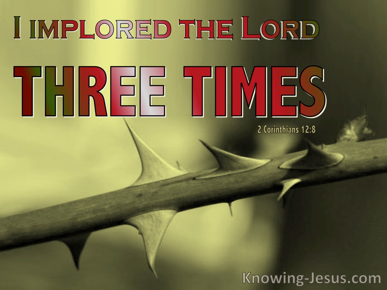 2 Corinthians 12:8