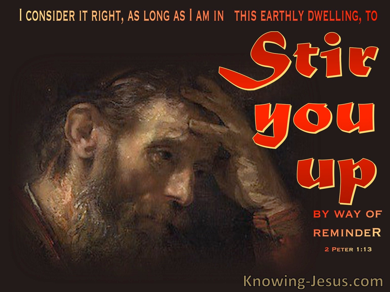 2 Peter 1:13