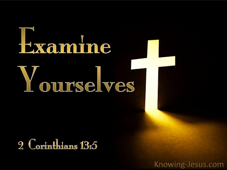 What Does 2 Corinthians 13 5 Mean