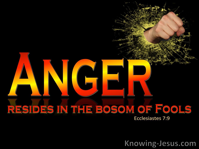 What Does Ecclesiastes 7:9 Mean?