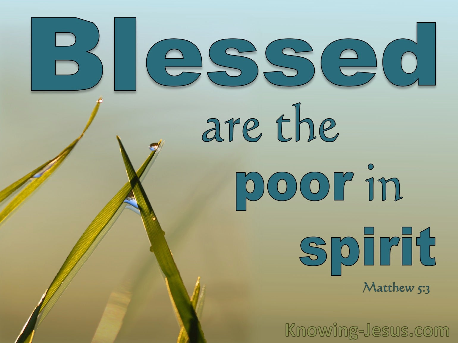 What Does Matthew 5:3 Mean?