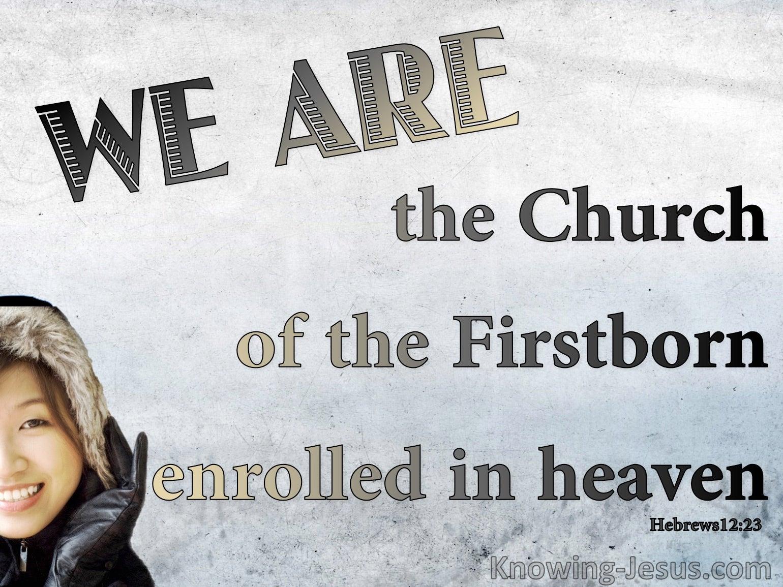 Hebrews 12:23