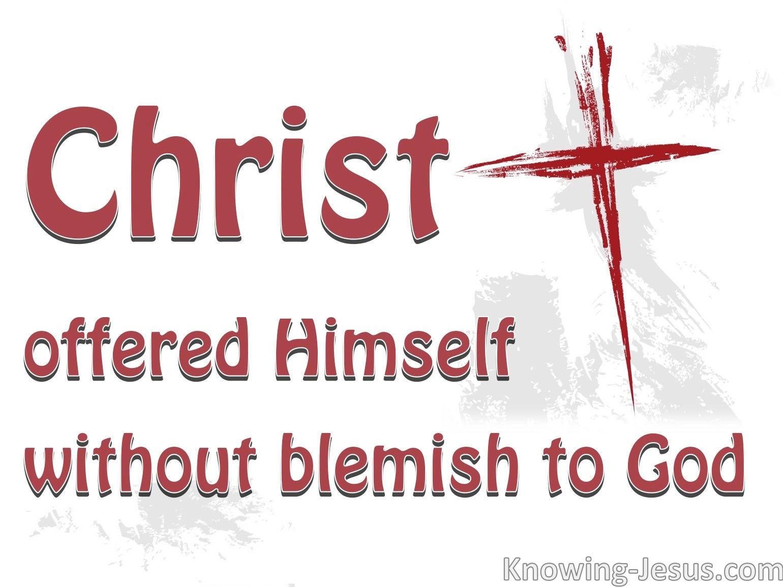 Hebrews 9:14