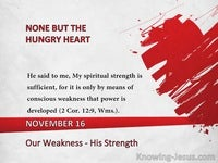 Our Weakness - His Strength