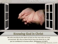 Knowing God in Christ
