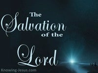 The Salvation of the Lord  - Perfect MAN Eternal SON (8)