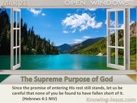 The Supreme Purpose of God