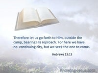 Hebrews 13:13