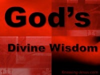 God's Divine Wisdom - Character and Attributes of God (2)