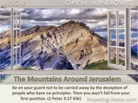 The Mountains Around Jerusalem