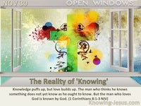 The Reality of 'Knowing'