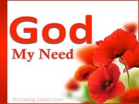 God, My Need (God - All I Need-5)