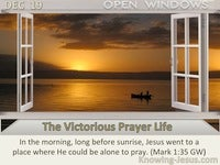The Victorious Prayer Life