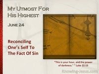 Reconciling One's Self To The Fact Of Sin