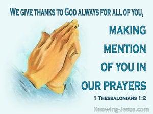 1 Thessalonians 1:2