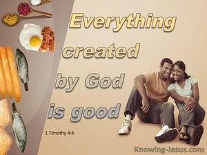 1 Timothy 4:4