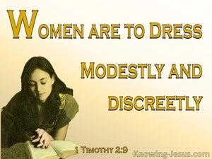 1 Timothy 2:9