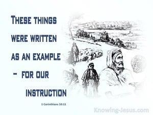 1 Corinthians 10:11