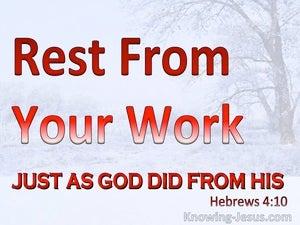 Hebrews 4:10