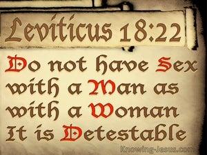 Leviticus 18:22