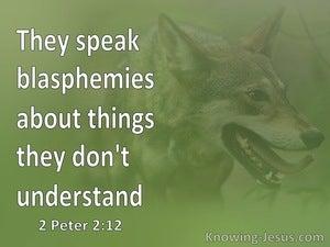 2 Peter 2:12