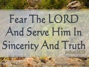 Joshua 24:14