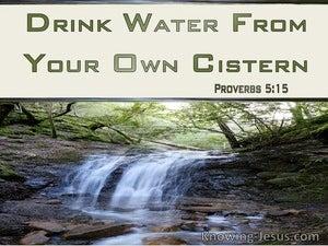 Proverbs 5:15