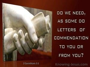 2 Corinthians 3:1