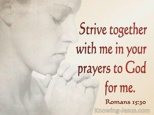 Romans 15:30