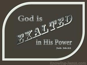 Job 36:22