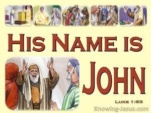 Luke 1:63