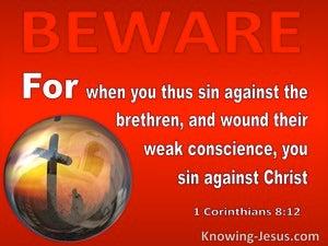 1 Corinthians 8:12