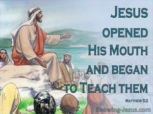 Matthew 5:2
