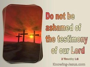 2 Timothy 1:8