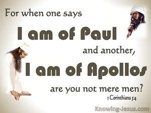 1 Corinthians 3:4