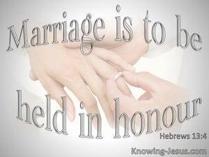 Hebrews 13:4