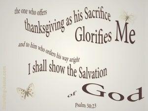 Psalm 50:23