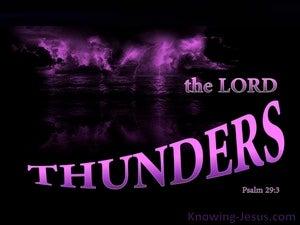 Psalm 29:3