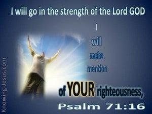 Psalm 71:16
