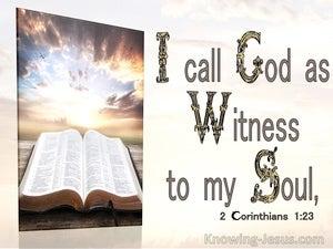 2 Corinthians 1:23