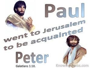 Galatians 1:18