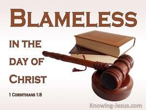 1 Corinthians 1:8