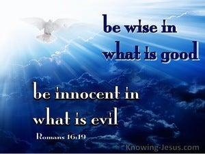 Romans 16:19