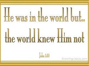 John 1:10