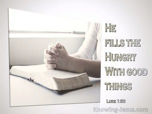 Luke 1:53
